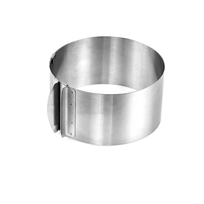 Форма для выпечки металлическая раздвижная | Кольцо 22-40 см, высота 10 см
