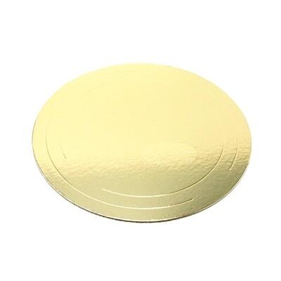 Подложка под торт Золото усилен. 2.5 мм Ø 24-30 см | упак. 50 шт