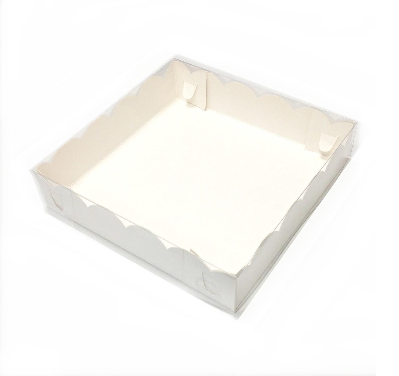 Коробка для пряников, печенья, пирожных, шоколада 12*12*3 см (мини-1) | 10-50 шт