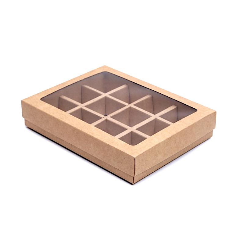 Коробка для конфет 23*18*4 см Крафт | упак.10-50 шт