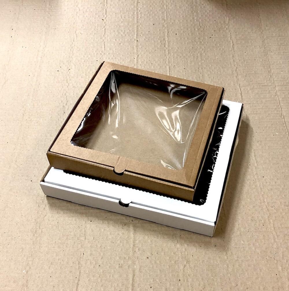 Коробка для пряников, печенья, пирожных, шоколада 20*20*3 см Крафт | 10-50 шт, гфрк