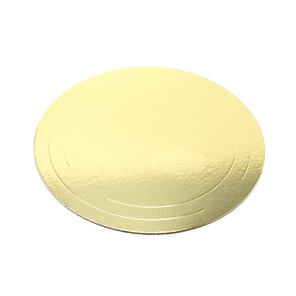 Подложка под торт Золото усилен. 3.2 мм Ø 24-30 см   упак. 50 шт