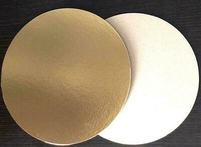 Подложка под торт Золото 0.8 мм Ø 24-30 см | упак. 50 шт
