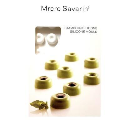 Силиконовая форма 3D для муссовых десертов и декора | Саварин мини 35 ячеек