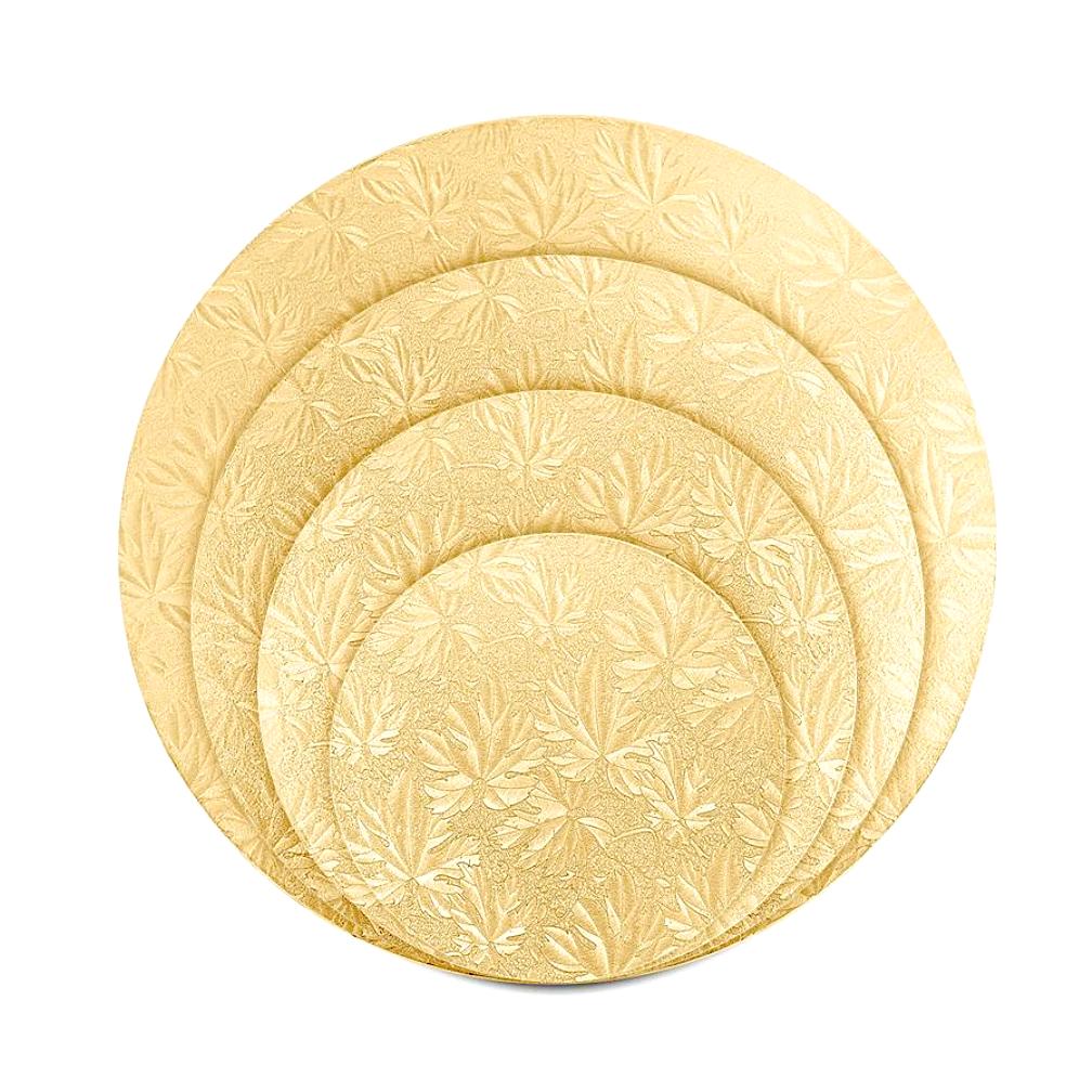Поднос под торт Золото (cakeboard) Ø 200-400 мм | толщина 13 мм