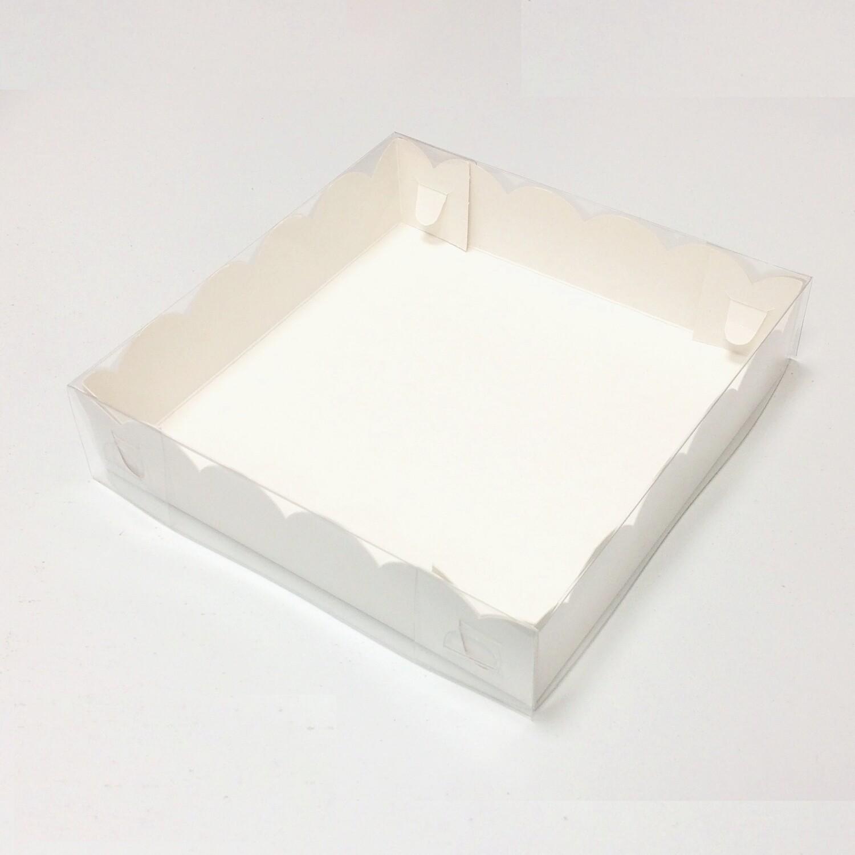 Коробка для пряников, печенья, пирожных, шоколада 20*20*4.5 см   10-50 шт