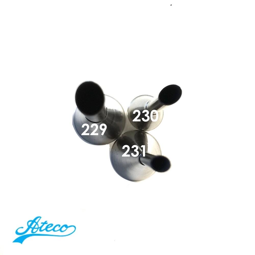 Кондитерская насадка для эклеров №229, 230, 231 Ateco | Bismarck