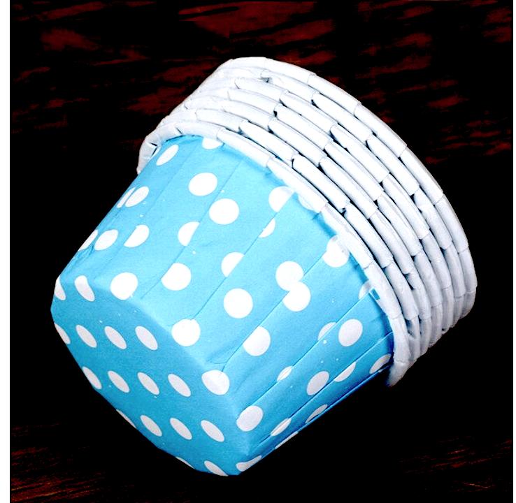 Бумажная капсула усиленная для выпечки капкейков Ø низ 6, см верх 4 см   100 шт Печать