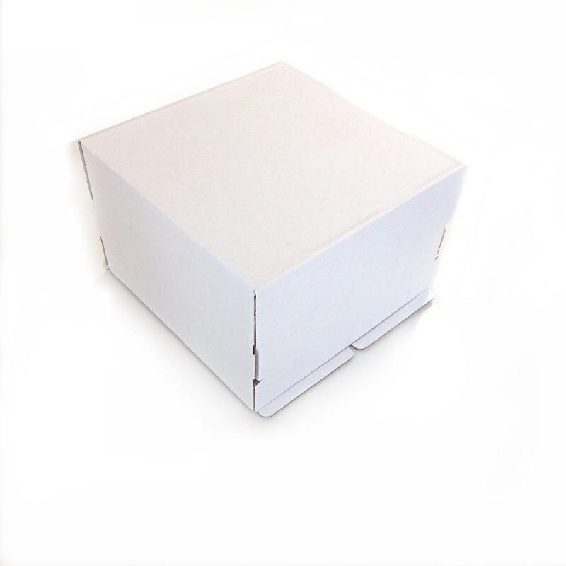 Коробка для торта 30*30*19 см Белая | упак 10-50 шт