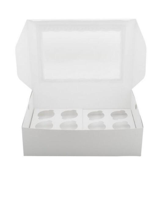 Коробка с окном для 12 капкейков 33*25*10 cм