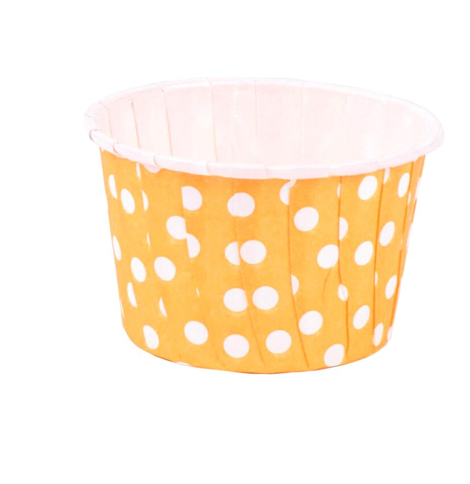 Бумажная капсула усиленная для выпечки капкейков Ø низ 5 см, высота 4 см   100 шт Печать