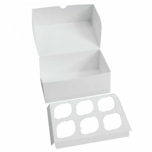Коробка для 6 капкейков 24*17*10 cм