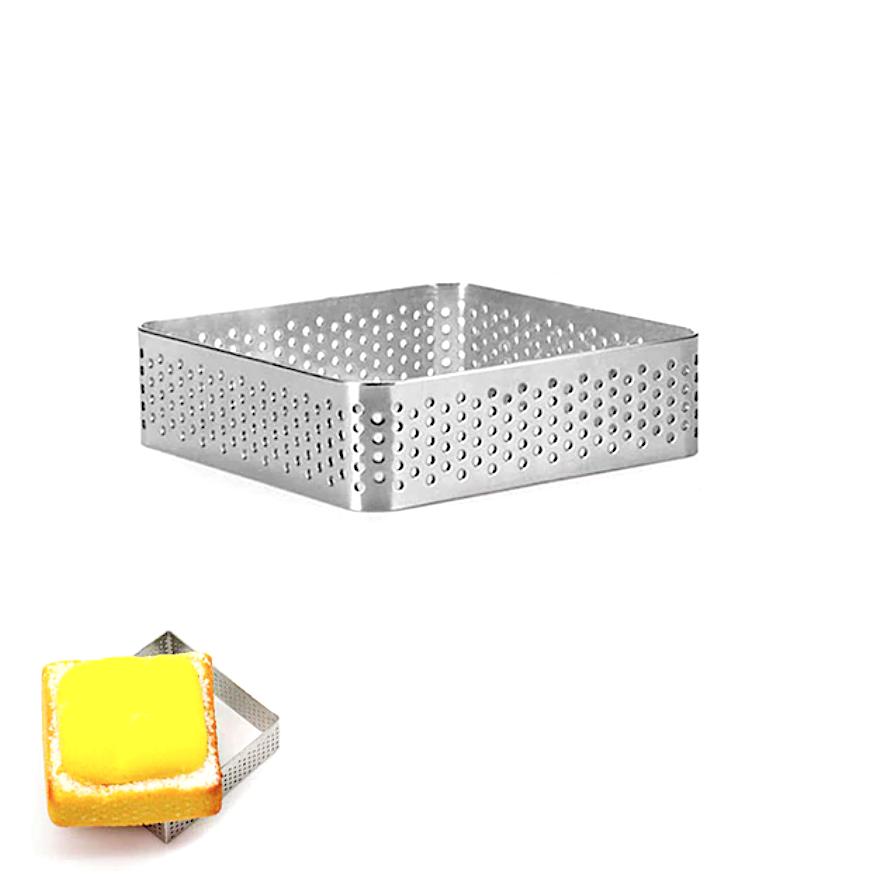 Формы для выпечки нерж.сталь перфорир. | Квадрат (высота 2 см)
