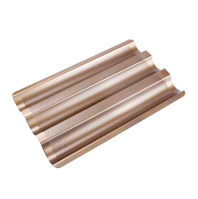 Противень перфорированный сталь. 3-х секц. для багетов