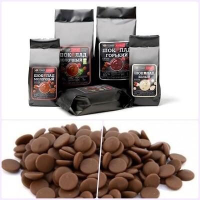 Шоколад молочный 33-36% капли (drops) без сахара   0.4 - 1 кг