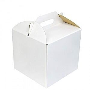 Коробка ручками для торта 30*30*30 см | упак 5-25 шт