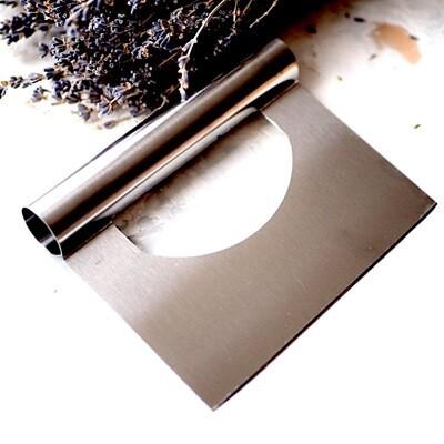 Кондитерский шпатель метал. прямой с ручкой (в.2)