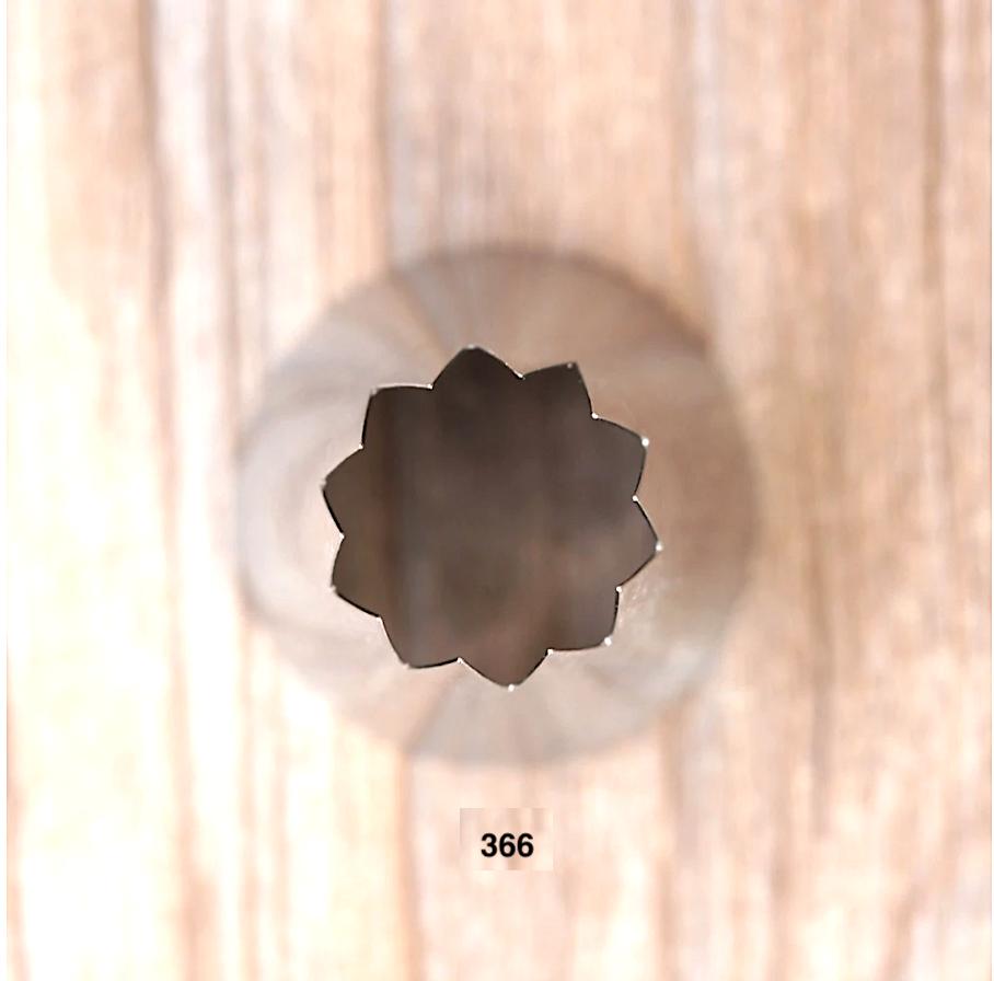 Кондитерская насадка 359, 366 | Открытая звезда