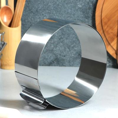 Форма для выпечки металлическая раздвижная | Кольцо 16-30 см, высота 8 см (Red Mold)