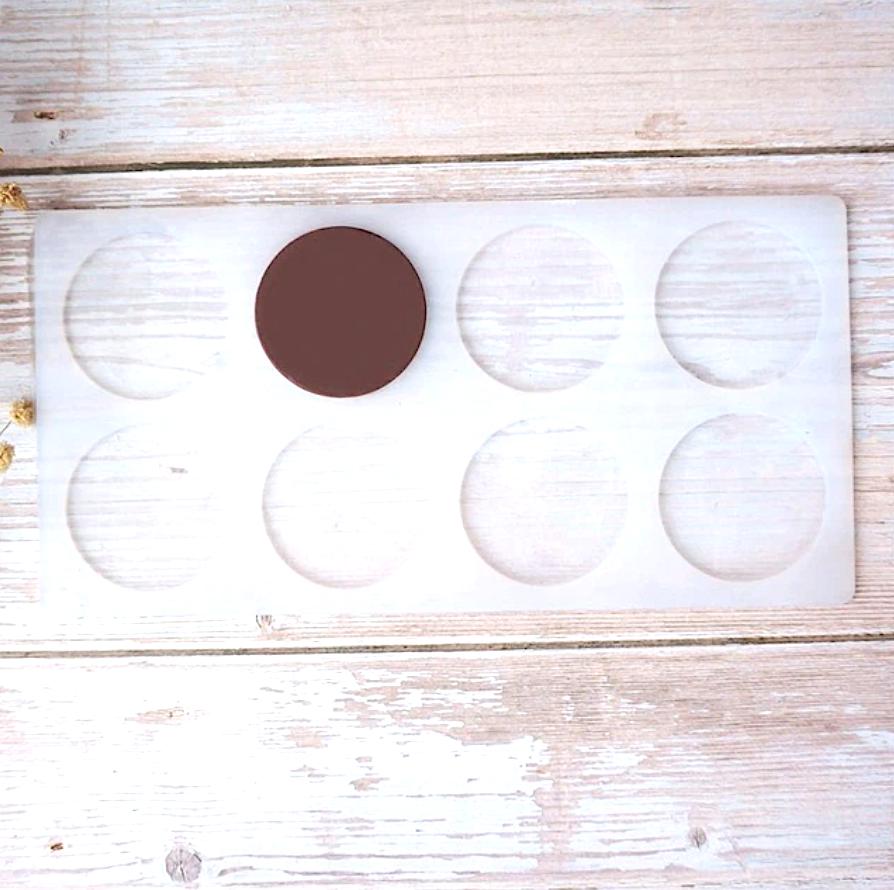 Силиконовая форма для шоколада-мастики-карамели 8 фигур Круг 220*110*3 мм