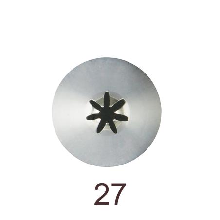 Кондитерская насадка закрытая звезда №27 Tulip™ малый размер (diam.7 mm; 6 лучей)