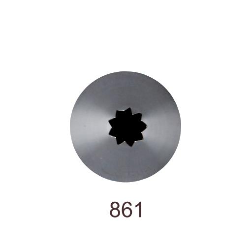 Кондитерская насадка открытая звезда №861 Tulip™ Французская трубочка (diam.5,5 mm; 9лучей)