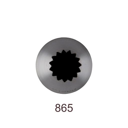 Кондитерская насадка открытая звезда №865 Tulip™ Французская трубочка (diam.11,5 mm; 15лучей)