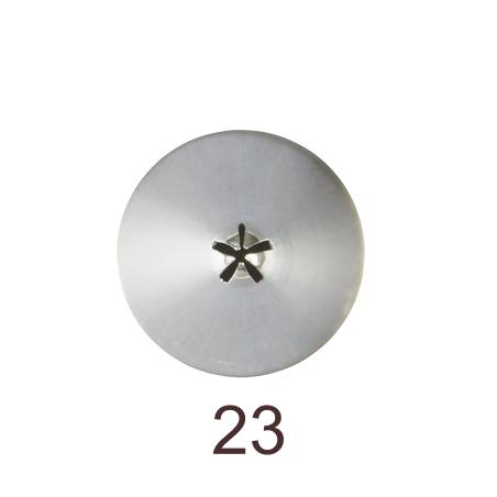 Кондитерская насадка закрытая звезда №23 Tulip™ малый размер (diam.4,4 mm; 5 лучей)