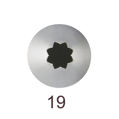Кондитерская насадка открытая звезда №19 Tulip™ малый размер (diam. 5 mm; 8 лучей)