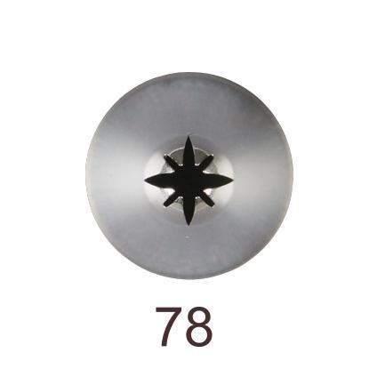 Кондитерская насадка закрытая звезда №78 Tulip™ разные лучи (diam.5 mm; 4-8 лучей)