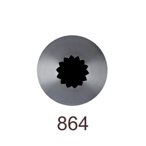 Кондитерская насадка открытая звезда №864 Tulip™ Французская трубочка (diam.10 mm; 14лучей)