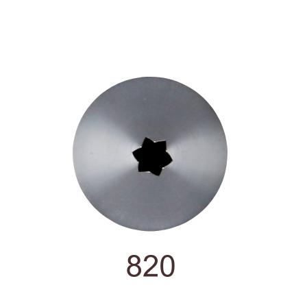 Кондитерская насадка открытая звезда №820 Tulip™ (diam.4 mm; 6лучей)