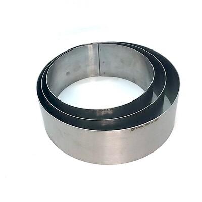 Формы для выпечки нерж.сталь Набор 3 шт | Кольца (высота 6 см, Ø 14, 16, 18 см)