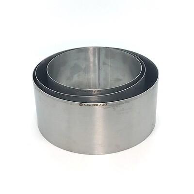 Формы для выпечки нерж.сталь Набор 3 шт | Кольца (высота 8 см, Ø 14, 16, 18 см)