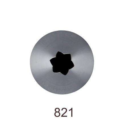 Кондитерская насадка открытая звезда №821 Tulip™ (diam.5,5 mm; 6лучей)