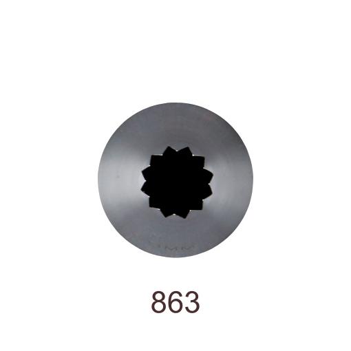 Кондитерская насадка открытая звезда №863 Tulip™ Французская трубочка (diam.8,5 mm; 12лучей)