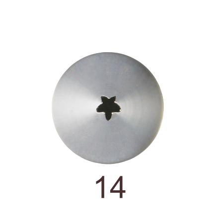 Кондитерская насадка открытая звезда №14 Tulip™ мини размер (diam. 2 mm; 5 лучей)