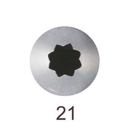 Кондитерская насадка открытая звезда №21 Tulip™ малый размер (diam. 6 mm; 8 лучей)
