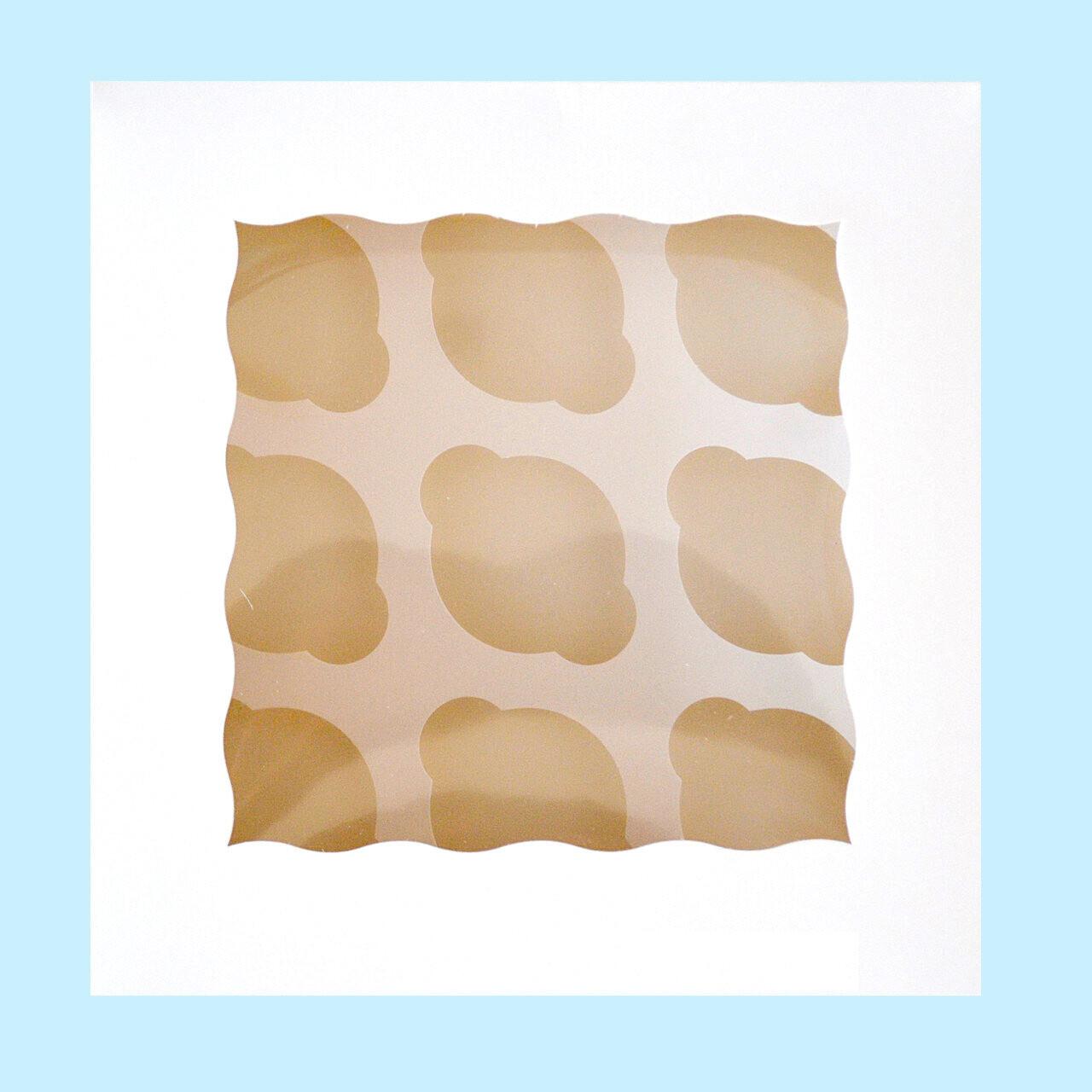 Коробка с окном для 9 капкейков 25*25*11 cм