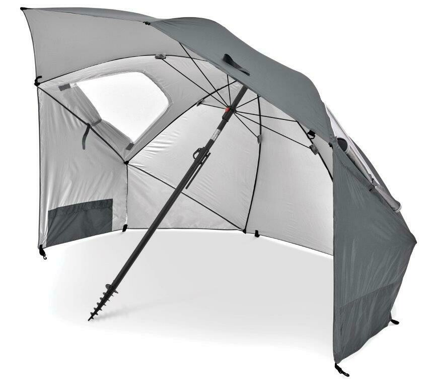 SKLZ SportBrella Premiere Grey: SPF50+ Rain, Wind, Sun Protection