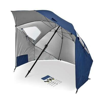 SKLZ SportBrella Premier XL: SPF50+ Rain, Wind, Sun Protection. Blue