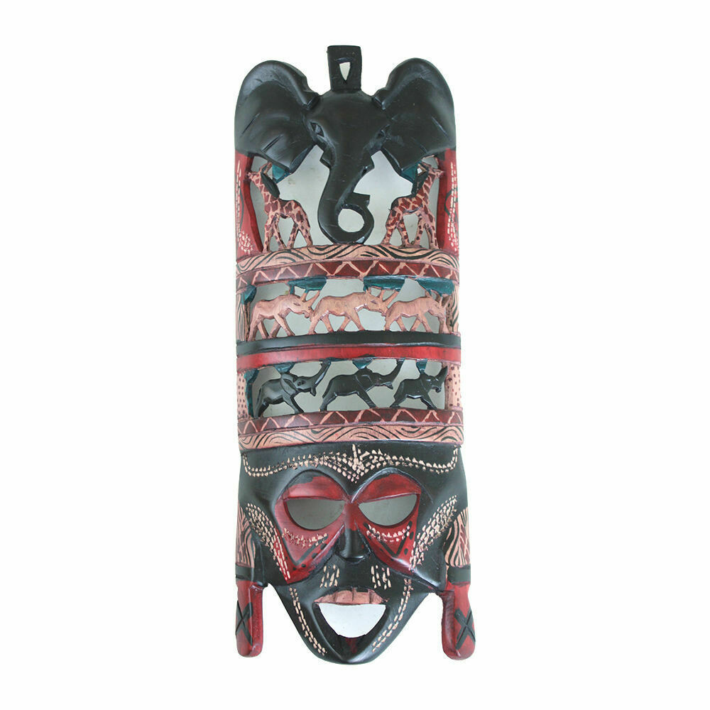 "Animals Of Africa Maasai Mask (12-14"")"