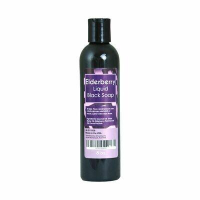 Elderberry Liquid Black Soap