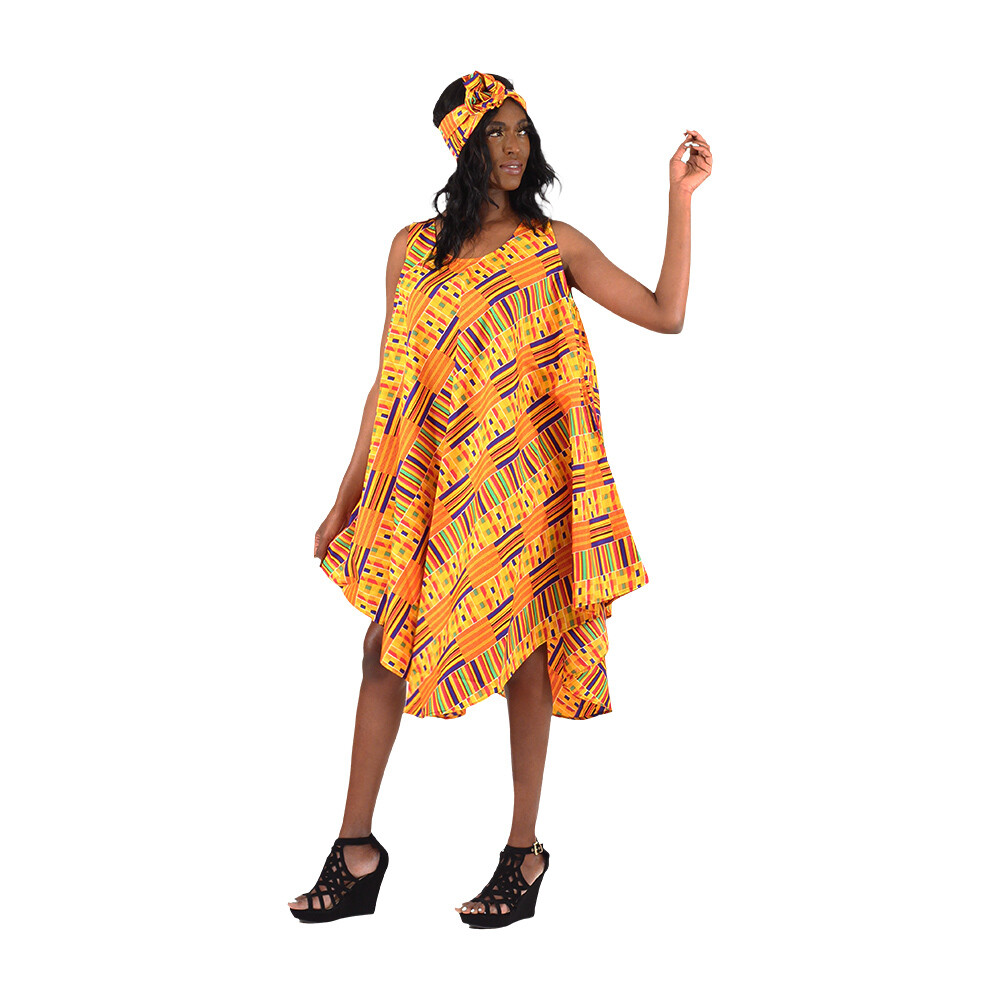 Kente #1 Umbrella Dress