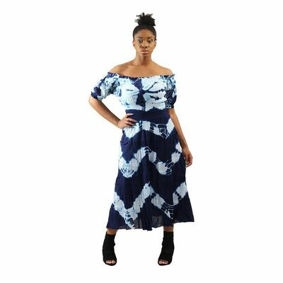 Tie-Dye Beach Girl Dress