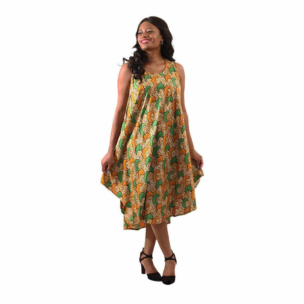 African Print Umbrella Dress