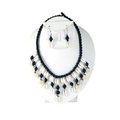 Cowrie Shell Necklace & Earring Set