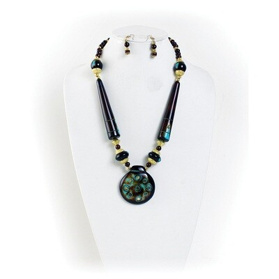 Antique Turquoise Necklace & Earrings