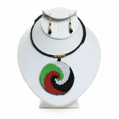 African Maasai Pendant Necklace Set