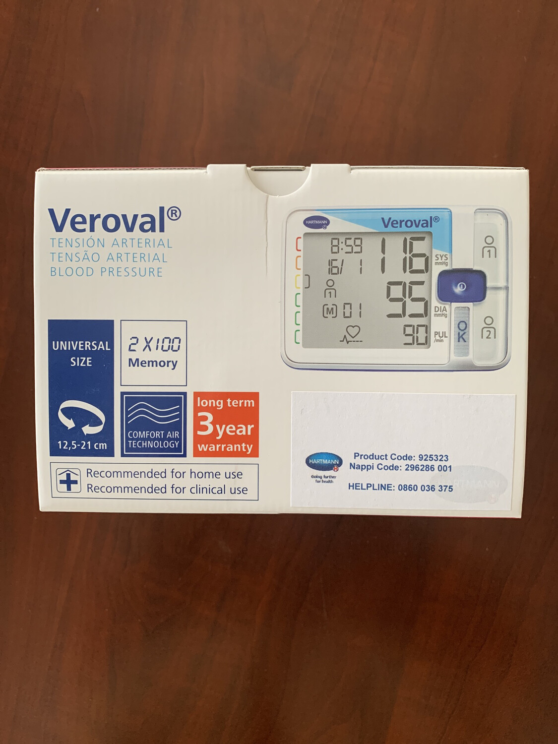 Veroval Electronic Blood Pressure App